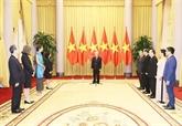 Nguyên Phu Trong reçoit des ambassadeurs de différents pays