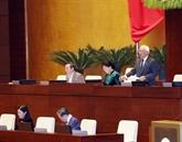Le 19 novembre, les députés de l'Assemblée nationale adoptent cinq lois