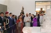 Le président indien visite la sculpture Cham de Dà Nang et le sanctuaire de My Son