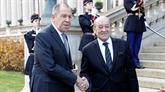 Rencontre à Paris entre les ministres français et russe des AE