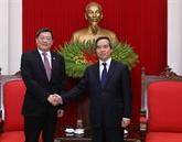 Un responsable du PCV affirme l'importance des liens Vietnam - Chine