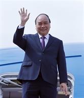 Nguyên Xuân Phuc arrive à Shanghai pour participer à la foire CIIE 2018