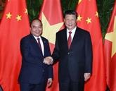 Nguyên Xuân Phuc rencontre Xi Jinping à Shanghai