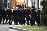 Les joueurs de Leicester à Bangkok pour les funérailles de leur président