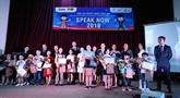 Concours d'éloquence en anglais Speak Now 2018 au Vietnam