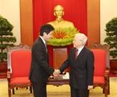 Un émissaire spécial du Premier ministre japonais reçu par Nguyên Phu Trong