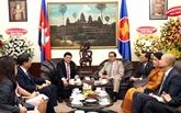 Hô Chi Minh-Ville s'engage à muscler les liens Vietnam - Cambodge