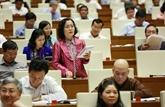 Les députés donnent des avis sur les lois amendées