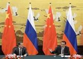 Chine et Russie s'engagent à renforcer la confiance mutuelle et les relations économiques