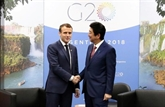 Affaire Ghosn: Macron demande à Abe que l'alliance Renault-Nissan soit
