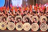 Nguyên Xuân Phuc au Festival de la culture des gongs du Tây Nguyên 2018