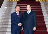 Le Premier ministre reçoit le ministre laotien de la Justice