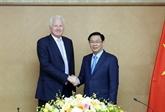 Le vice-Premier ministre Vuong Dinh Huê reçoit le président du groupe Clermont
