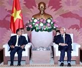 Le vice-président de lAN Uông Chu Luu reçoit le ministre laotien de la Justice