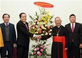 Noël: le président du Front de la Patrie rend visite à des dignitaires religieux