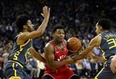 NBA: Toronto en démonstration à Golden State