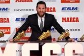 Messi reçoit son cinquième Soulier d'or, un record