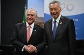 Singapour et le Brésil s'engagent à élargir leurs relations commerciales