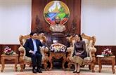 Le vice-PM Pham Binh Minh en visite officielle au Laos