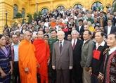 Le secrétaire général du PCV et président de la République reçoit des personnalités ethniques exceptionnelles