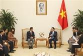 Vuong Dinh Huê reçoit le directeur général de Samsung Vietnam