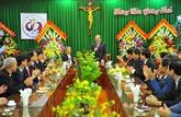 Les vœux de Noël aux catholiques à Ninh Binh, Nam Dinh et Bac Ninh