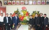 Le maire de Hanoï adresse ses vœux de Noël aux catholiques de la capitale