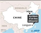 Chine: au moins cinq morts dans l'accident d'un bus détourné