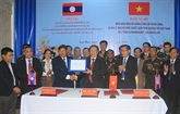 Quang Tri et des provinces laotiennes coopèrent dans la protection de la frontière