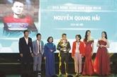 Nguyên Quang Hai sacré Ballon d'Or du Vietnam 2018