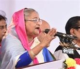Bangladesh: la Première ministre Hasina remporte les législatives, l'opposition proteste