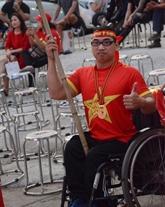 Un supporteur de l'équipe nationale du Vietnam pas comme les autres