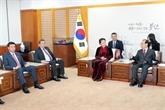 Des activités de la présidente de l'AN du Vietnam en République de Corée