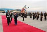 La présidente de l'AN, Nguyên Thi Kim Ngân, est arrivée à Séoul