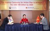 Vietnam et R. de Corée ciblent 100 milliards d'USD d'échanges commerciaux en 2020