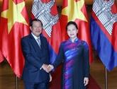 Vietnam-Cambodge: entrevue entre Nguyên Thi Kim Ngân et Samdech Techo Hun Sen