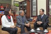 Le président de la République présente ses vœux aux intellectuels de Hanoï
