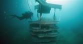 Des récifs artificiels au débouché d'un ancien égout,