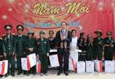 Le président Trân Dai Quang présente les vœux du Nouvel An à Kon Tum