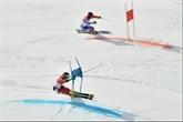La Suisse championne olympique en slalom parallèle par équipes, la France 4e