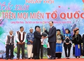 Le président de la République lance une fête printanière au Village de la culture ethnique