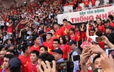 Football : les joueurs de la sélection U23 rencontrent les supporters du Sud