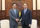 Le président vietnamien reçoit l'ambassadeur chinois Hong Xiaoyong