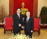 Le secrétaire général du PCV reçoit l'ambassadeur chinois à Hanoï