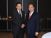 Le PM vietnamien Nguyên Xuân Phuc rencontre son homologue lao