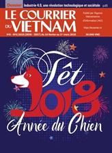 Le prix C au Courrier du Vietnam pour la belle couverture du journal du Têt du Chien