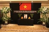 Hommage à lancien Premier ministre Phan Van Khai au Japon