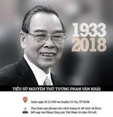 La vie du feu Premier ministre Phan Van Khai en infographie