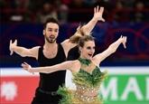 Mondiaux de patinage : Papadakis et Cizeron reprennent leur marche en avant