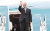 Le leader du PCV Nguyên Phu Trong quitte Hanoï pour la France